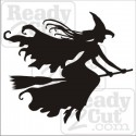 Witch Flying- Witch on a Broom Silhouette