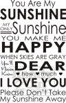 You Are My Sunshine subway poster art